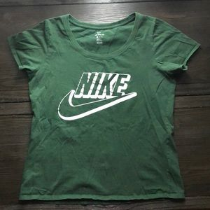 Green Athletic Cut Nike Tee